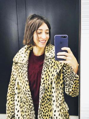Laura Jackson's Leopard-Print Coat Looks So Expensive