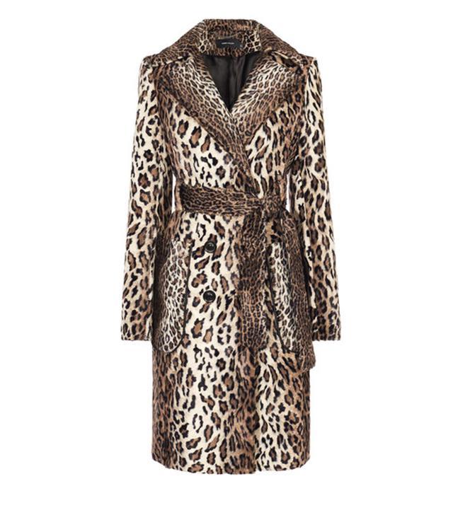 Karen Millen Faux Fur Leopard Coat