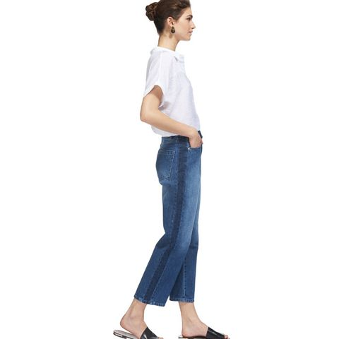 Side Stripe Wide Leg Jean