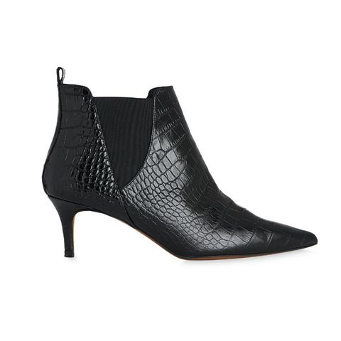 Orley Croc Kitten Heel Boot
