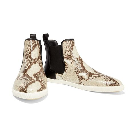 Gracie Snake-Effect Leather High Top Sneakers