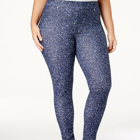 Tweed-Print Leggings