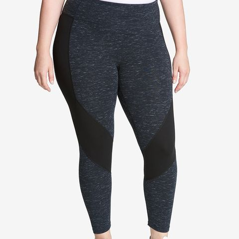 Performance Mesh-Trimmed High-Rise Leggings