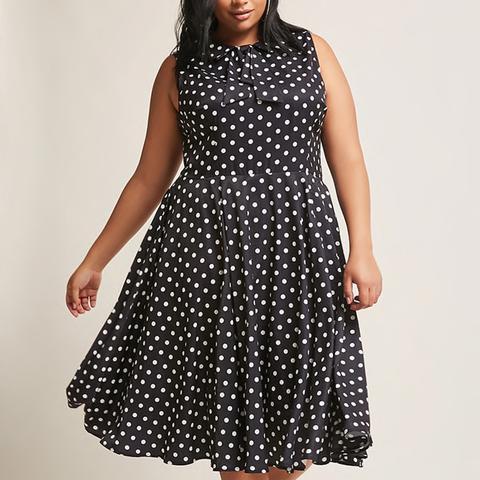 Unique Vintage Polka-Dot Dress