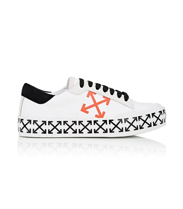 Women's Arrow-Print Canvas Sneakers