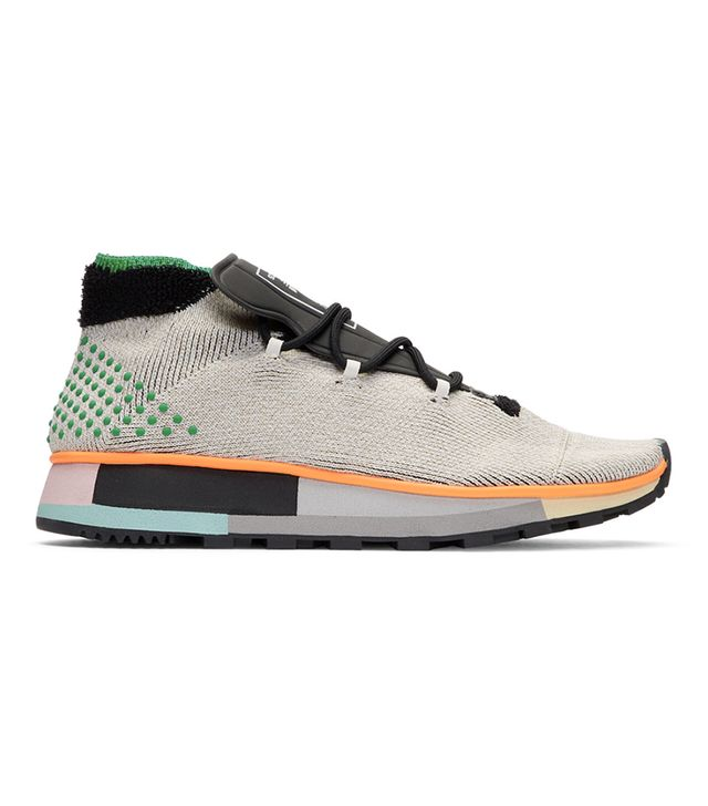 Adidas Originals by Alexander Wang Grey AW Run Mid Sneakers