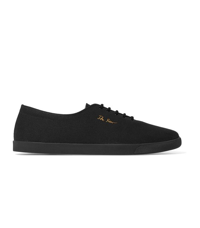 Dean Embroidered Canvas Sneakers