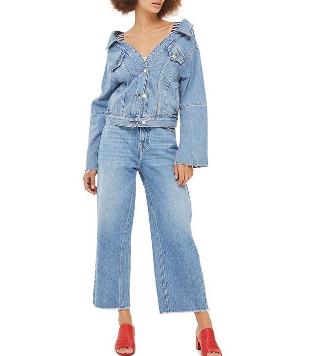 Women's Off The Shoulder Denim Jacket
