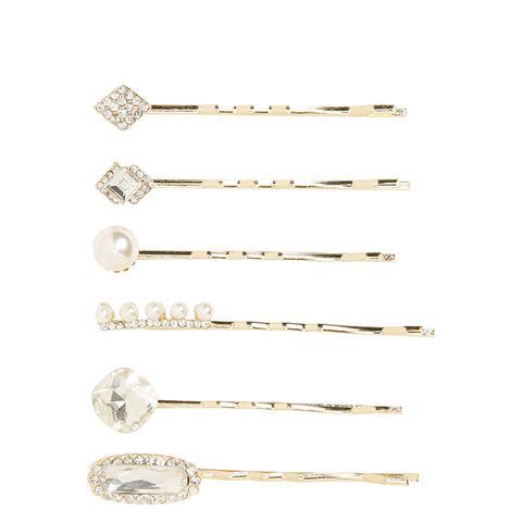 6-Pack Embellished Bobby Pins