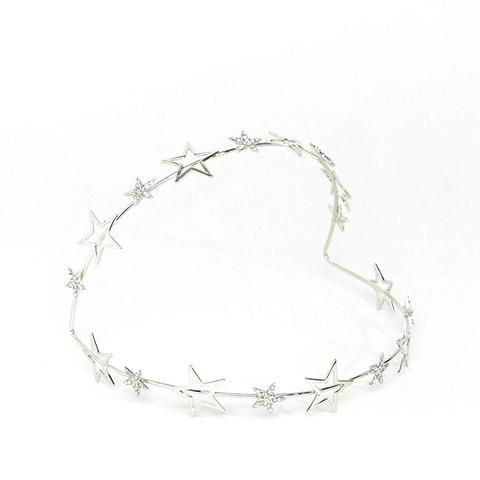 Metallic Statement Crystal Star Halo Headband