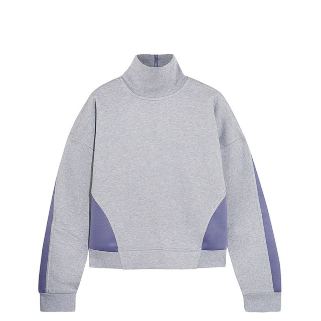Jersey And Stretch-scuba Sweatshirt