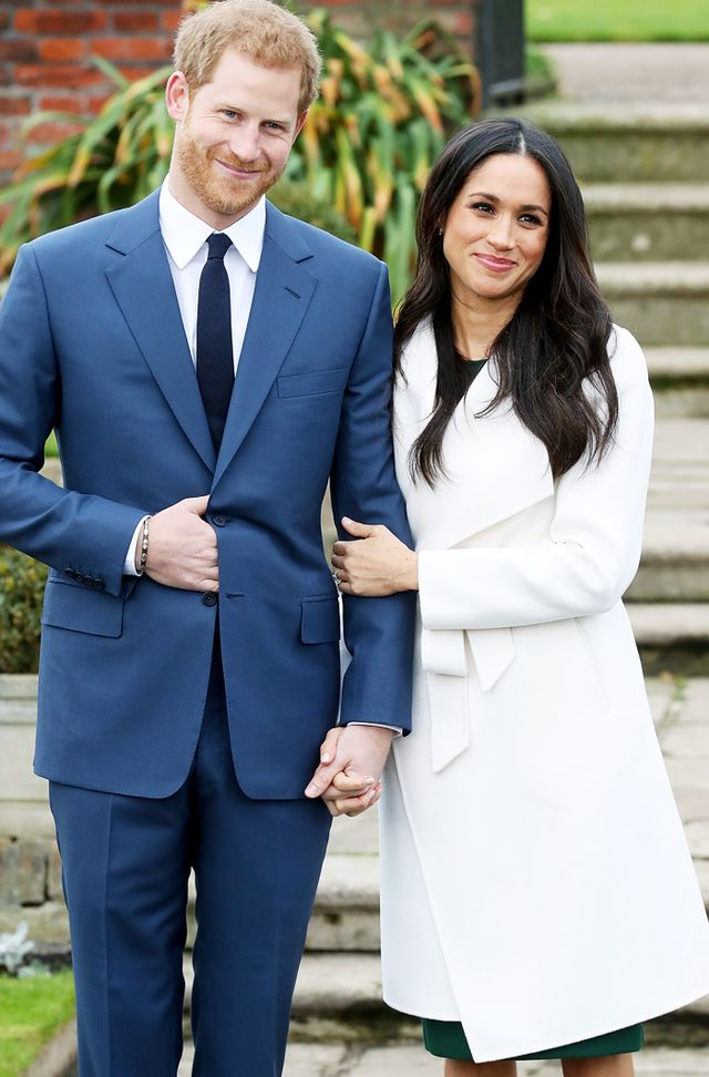Meghan Markle Engagement outfit white coat: