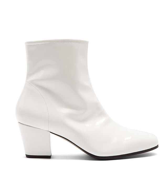 AlexaChung Beatnik Patent-Leather Ankle Boots