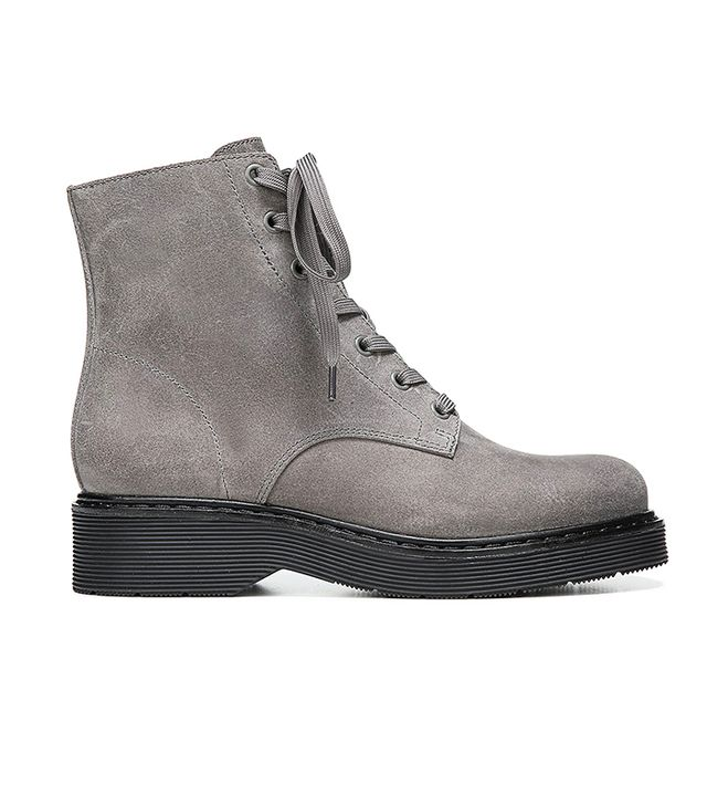Monastir Leather Lace Up Combat Boots