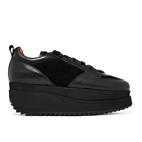Naomi Leather and Suede Platform Sneakers