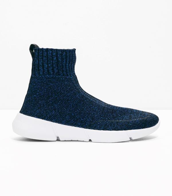 Metallic Sock Sneaker