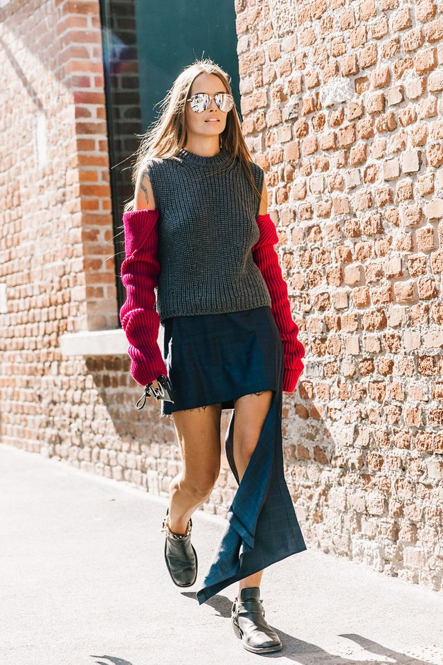 Day 11: Pair a statement sweater with your favorite party skirt.