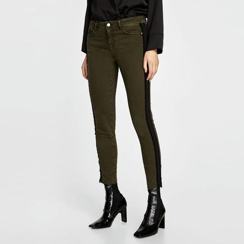 Jeans With Side Stripe