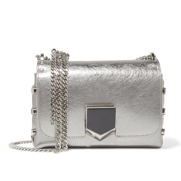 Lockett Petite Metallic Brushed-leather Shoulder Bag