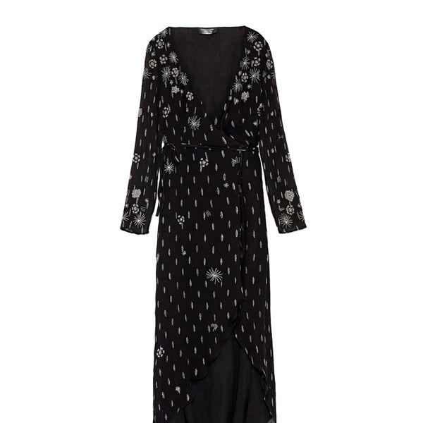 Zara Limited Edition Embroidered Jacquard Dress