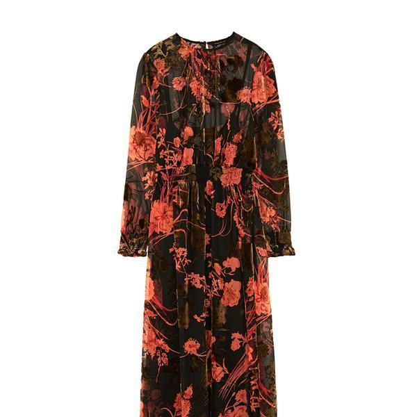 Zara Midi Dress With Elastic Waist