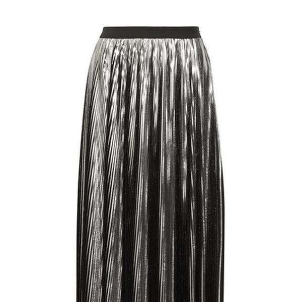 Jil Sander Pleated Lamé Midi Skirt