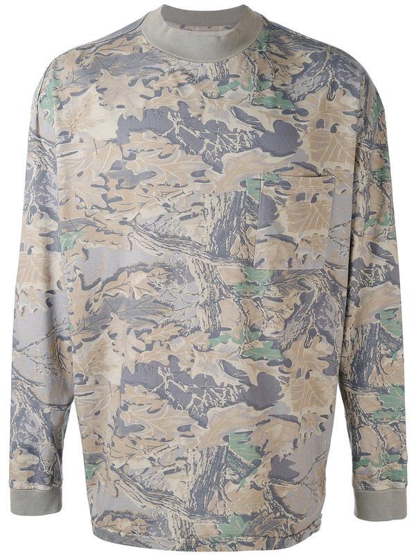 leaf print sweater