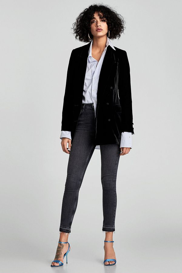 zara jeans and shoes