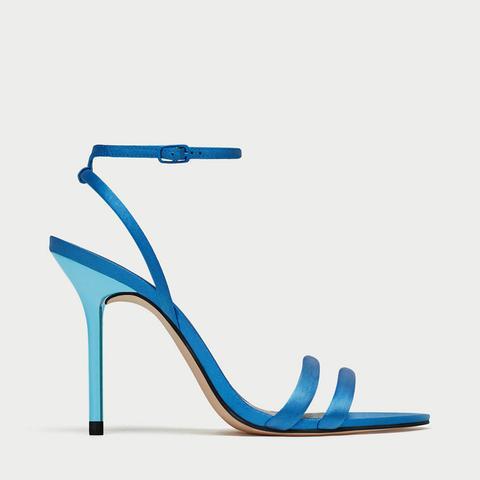 Satin High Heel Sandals