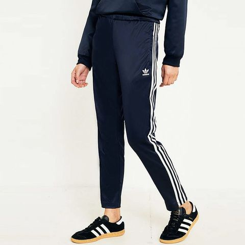 Europa Navy Satin Track Trousers