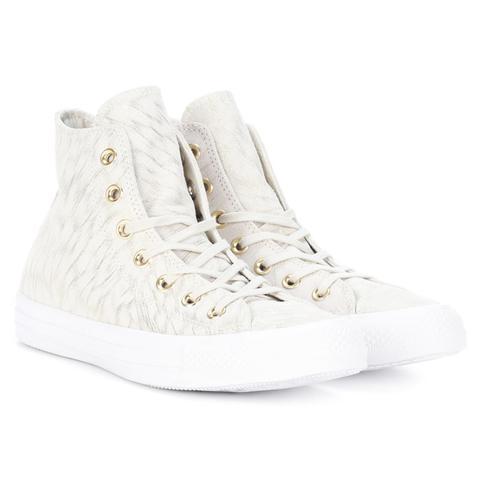 All Star Printed Suede Sneakers