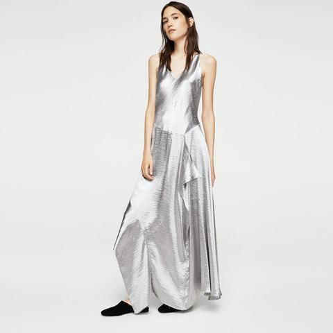 Ruffle Metallic Dress