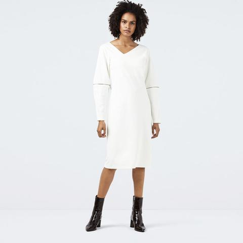 Dolben Ivory Zip Jersey Dress