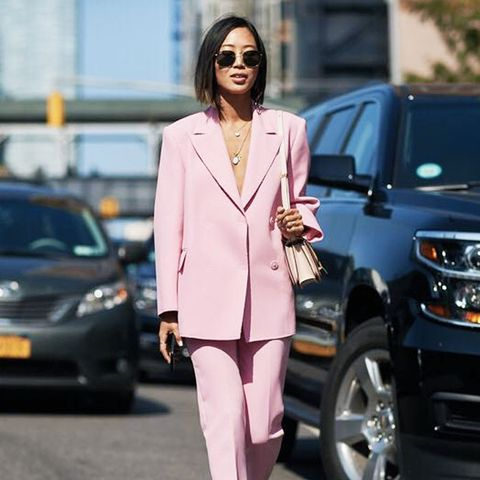The Style Stalker Pink Trouser Suit