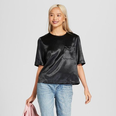Short Sleeve Silky Boxy T-Shirt