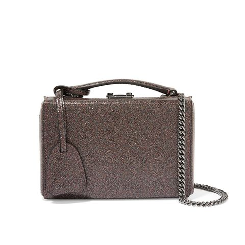 Grace Mini Glittered Leather Shoulder Bag