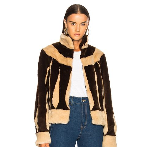 Sara Short Faux Fur Jacket