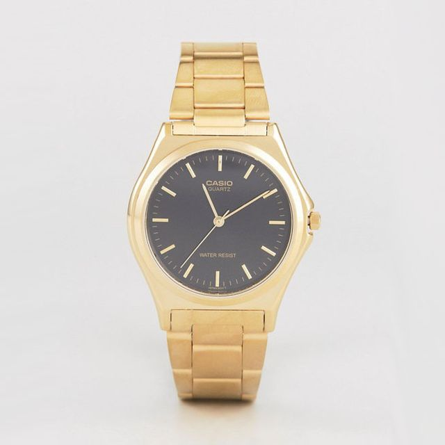 Gold Stainless Steel Strap Watch MTP1130N-1A