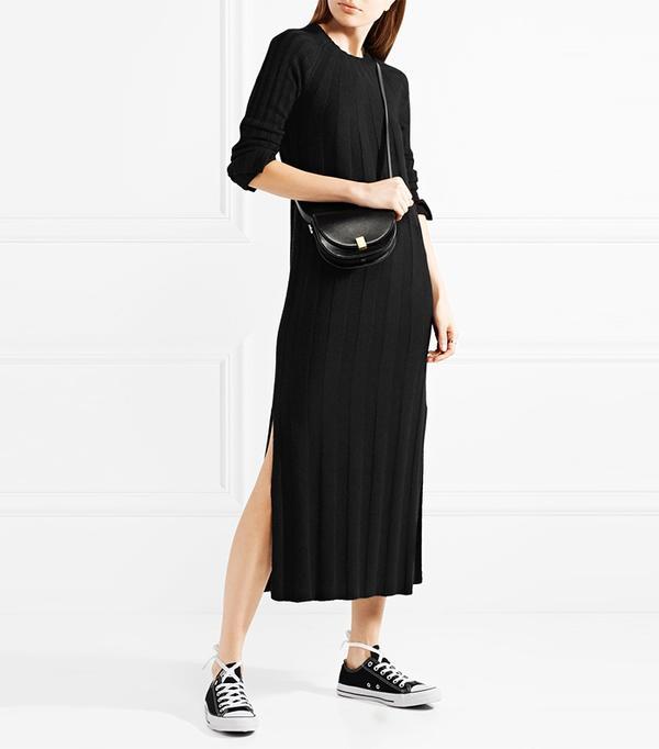 Gerri Ribbed-knit Midi Dress