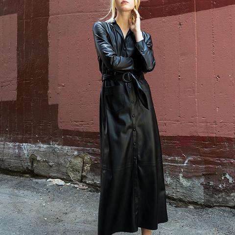 Susane - Vegan Leather Dress – Black