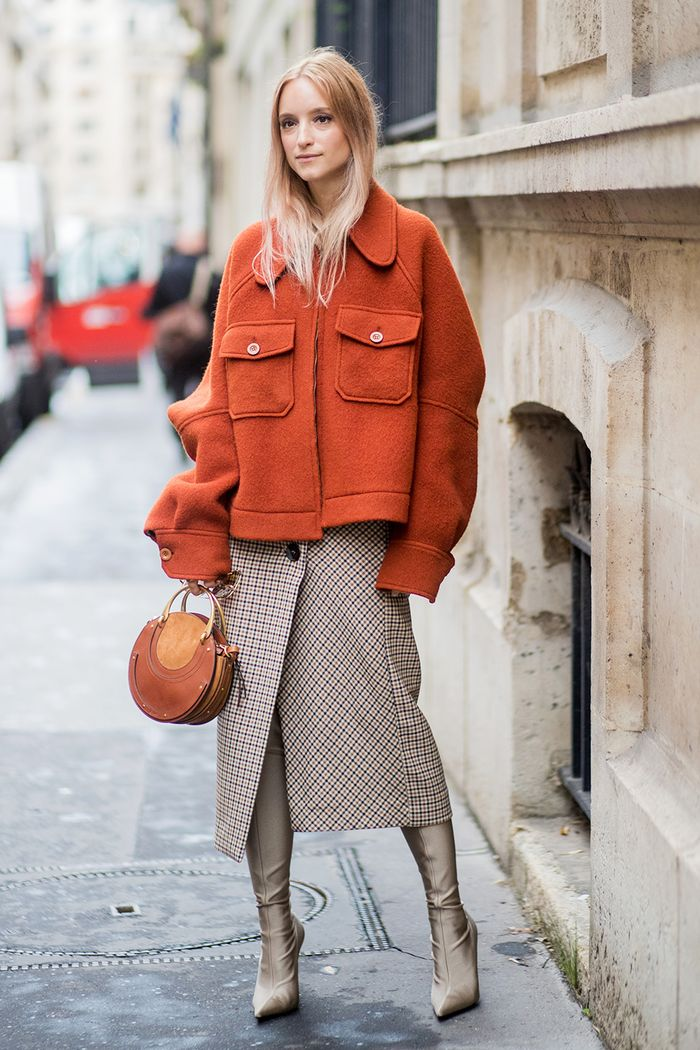 Preppy Outfits: jacket and skirt