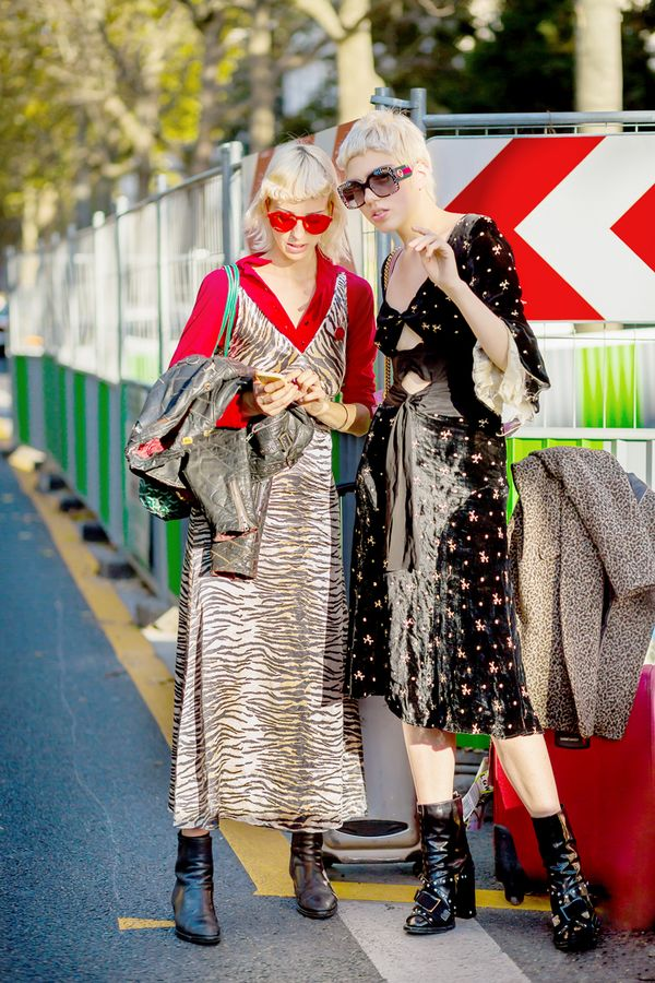We pretty much love nights like these because they allow us to break out the wild whimsical pieces we don't often get the chance to flaunt. Play up an animal-print dress with funky boots and...