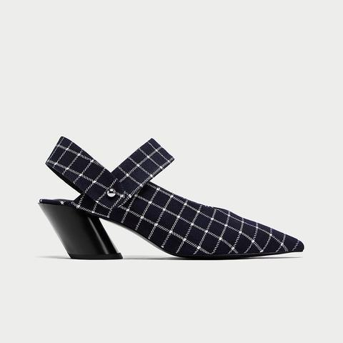 Block Heel Slingback Shoes