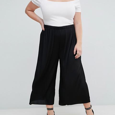 Awkward Length Plisse Pants