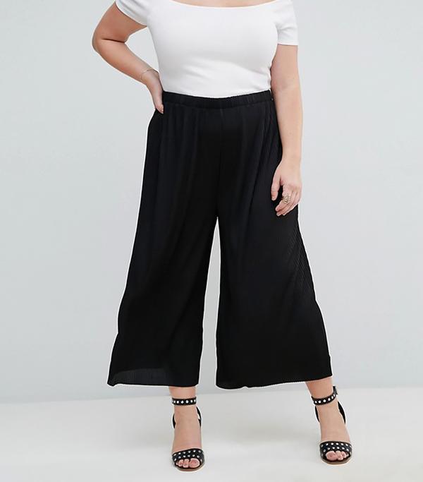 ASOS CURVE Awkward Length Plisse PANTS