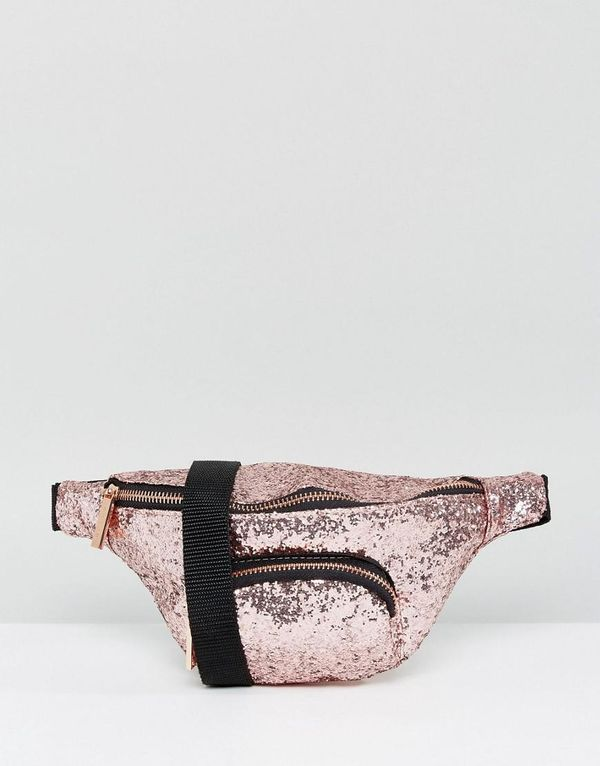 Pink Glitter Fanny Pack