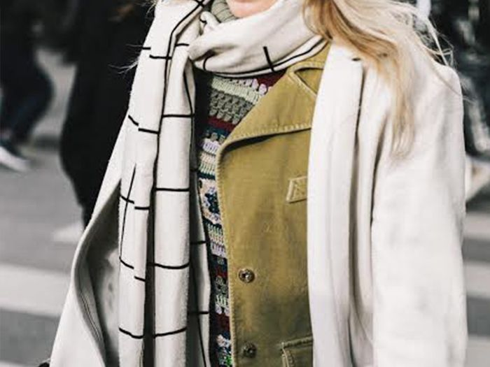 Scarf Street Style Collage Vintage