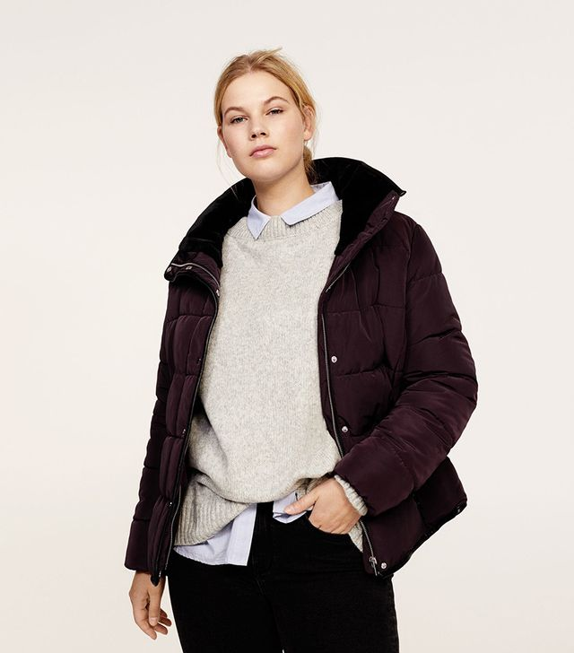 Violeta by Mango Hidden Hood Quilted Anorak