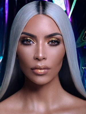 "Kim Kardashian on Unicorn Makeup, YouTube Tutorials, and Her ""Glitzy"" New Launch"