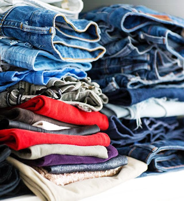 How to Organise Your Closet Once and for All: Folded jeans